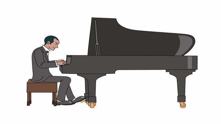 ジャズピアニスト(イラストACより:作者 フリーカットさん)
