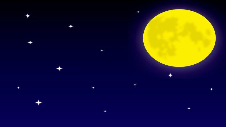 イラストACより「満月と星空のシンプル」(作者: gimyzrさん)